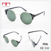Ventas clásicas y calientes con el marco redondo del metal y las gafas de sol plásticas del templo (MI212)