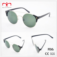 Classical and Hot Sales with Metal Round Frame and Plastic Temple Sunglasses (MI212)