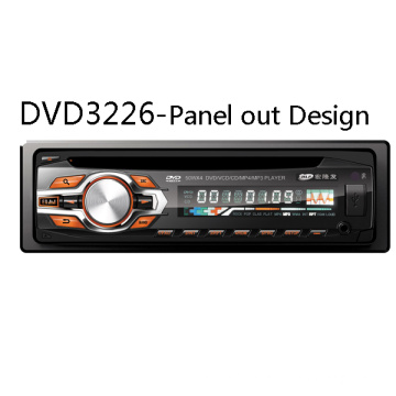 Detachable Panel out One DIN 1DIN Car MP3 WMA Stereo DVD Player Radio FM/Am USB SD Aux Multimedia Audio Video Entertaiment System
