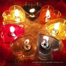 Heart Shaped Tin Candle for Weedings; Партии и дни рождения