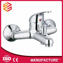 Polished Chrome Ceramic cartridge wall mount bathtub mixer shower hose bathtub faucet mixer hot cold water shower