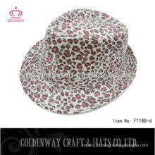 Chapeau Trilby à imprimé léopard bon marché