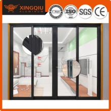 Personnaliser le cadre de porte en verre professionnel en aluminium OEM, cadre de porte en aluminium