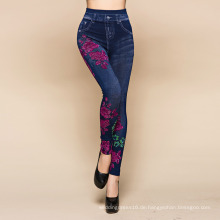 Indien Print Denim Hosen Hosen Leggings