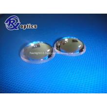 Convex aspheric lens for flashlight