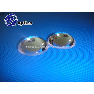 Convex aspheric lens for flashlight