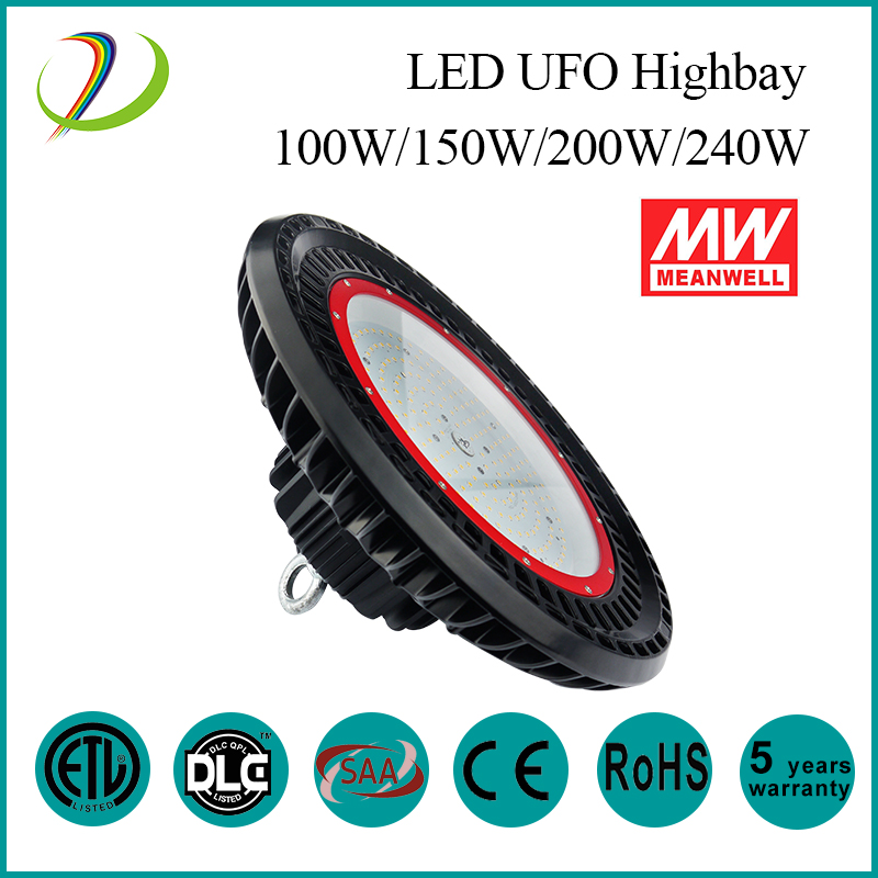 150W Meanwell driver UFO High Bay light