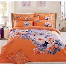 Home Bedding Set 7 pedaços com edredão edredão travesseiros e lençol