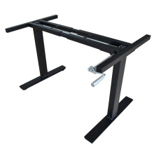 Регулируемая высота офисный стол рамка на 2 ногах с ручная мотылевая регулируемая высота ноутбук стол рамка