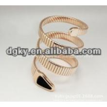 Plata de oro de la serpiente forma pulseras quirúrgicas de acero inoxidable flexible