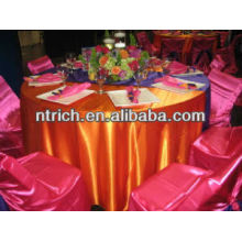Shimmery plain satin table cloth for wedding and banquet