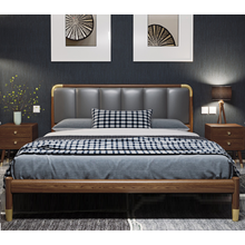 Solid Wood Frame Hotel Apartment Bed