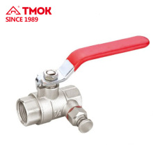 TMOK 1/2 3/4 inch hydraulic and threaded connection brass ball valve with nice quality