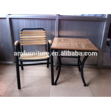Hot sale design outdoor wooden table set