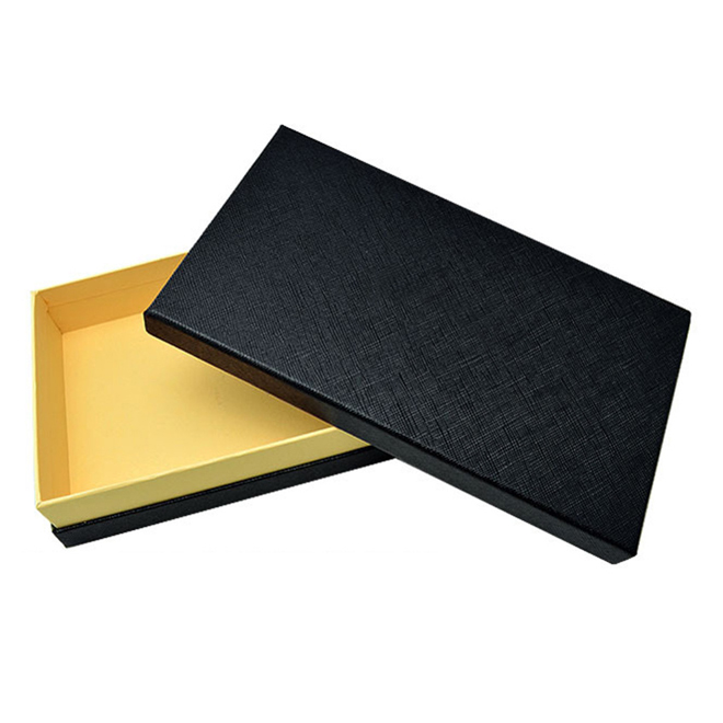 black paperboard gift box