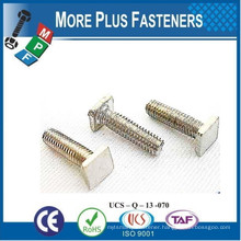 Made In Taiwan High Quality Brass Special Squarer Head Square Head Lag Screw Square Head Bolt