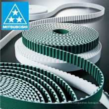 Mitsuboshi Belting FREESPAN rubber timing belt for conveyor line, vertical transport, transport machinery. Made in Japan