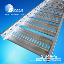 Bandeja de cabo pré-galvanizada BC4 Austrália tipo escada com certificados CE e UL