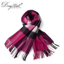 Luxury Winter Autumn Lamb Wool Pashmina Bandana Women Knitted Scarf