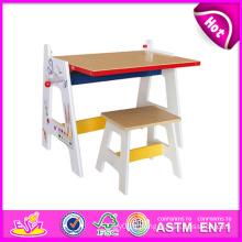 2014 nouvelle table en bois de tirage pour des enfants, table en bois stable de tirage d'ensemble pour des enfants, jouet en bois de table de tirage éducatif pour bébé W08g126