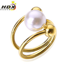 2016 Fashion Stainless Steel Jewelry Women Pearl Ring/Jewelry