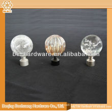 Resin Curtain Finial For Rod ,crystal curtain finial ,curtain pole finial,metal curtain finial , glass curtain finial
