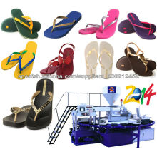 Chinelos e sandálias de PVC que fazem a máquina