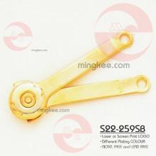 Bisagra dorada partes y accesorios para bolsa de mensajero de cuero