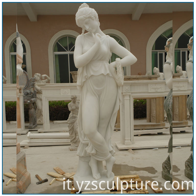 marble lady sculpture