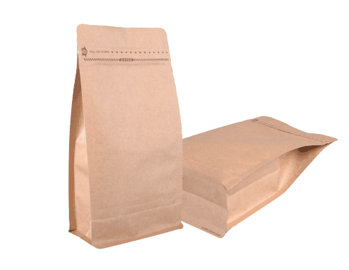 500G Kraft Paper Pocket Zipper Box Pouch