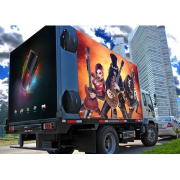 High Brightness Mobile LED Screen Trailer Advertise Display