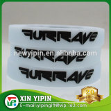 100% silicone wristbands custom debossed logo with color filled in silicone bracelets