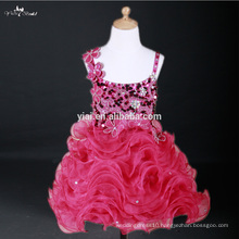 FG33 Plum Colored Ruffled Skirt Lovely Lace Cinderella Girl Flower Fancy Dresses Competition For Wedding