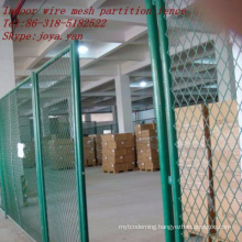 Indoor wire mesh partition fence