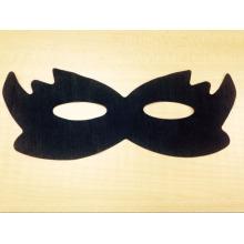 máscara de olho preto alisamento não tecido máscara de olho quente alça preto