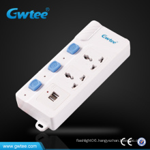 Latest designed usb controlled multiple power socket