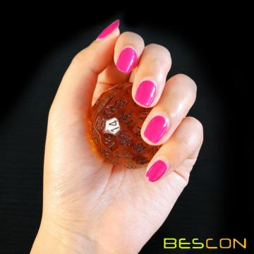 Bescon Translucent Polyhedral Dice 100 Sides Dice, Transparent D100 die, 100 Sided Cube, D100 Game Dice,100-Sided Cube of Amber