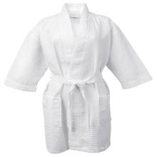 Waffel Weben Robe Kimono Hotel Spa Weiß Bademantel