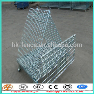 collapsible wire pallets /wire mesh storage container