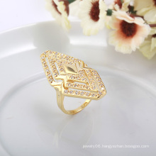 Popular Fashion Gold-Plated Specail Shape Diamond Jewelry Ring in Nickel Free for Women 10263