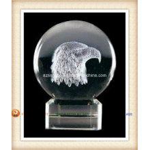 Bola de cristal do logotipo para o presente da promoção