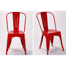 Cafe Marais Metal Tolix Chairs Stackable / Antique Industrial Tolix Metal Frame Coffee Chairs