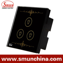 3 Key Black Lamp Touch Switch for Wall, Home Smart Remote Control Switches