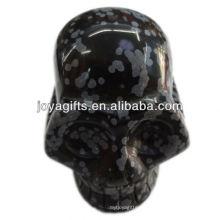 """La piedra preciosa de Snowflak talló el cráneo 2 """"cráneo natural de la piedra preciosa"""
