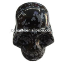 "Snowflak gemstone carved skull 2"" natural gemstone skull"