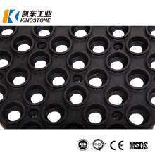 Drainage Holes Interlocking Design Safety Grid Mattings Rubber Floor Mat for Deck