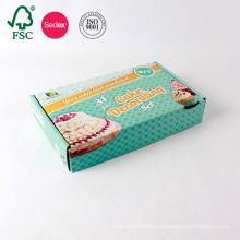 Caja de cartón acanalada plegable hecha a mano hecha a mano simple del cartón de la impresión