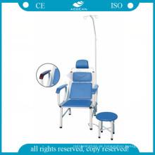 AG-TC002 blau Edelstahl Krankenhaus Injektion hochwertige Transfusion Stuhl