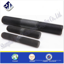 high tensile carbon steel black finish half thread stud bolt