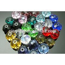 Vente en gros de perles rondelles taillées taillées personnalisées, perles rondelles, perles